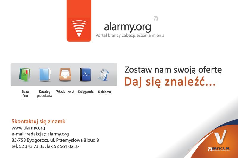 Alarmy.org - portal branży zabezpieczenia mienia