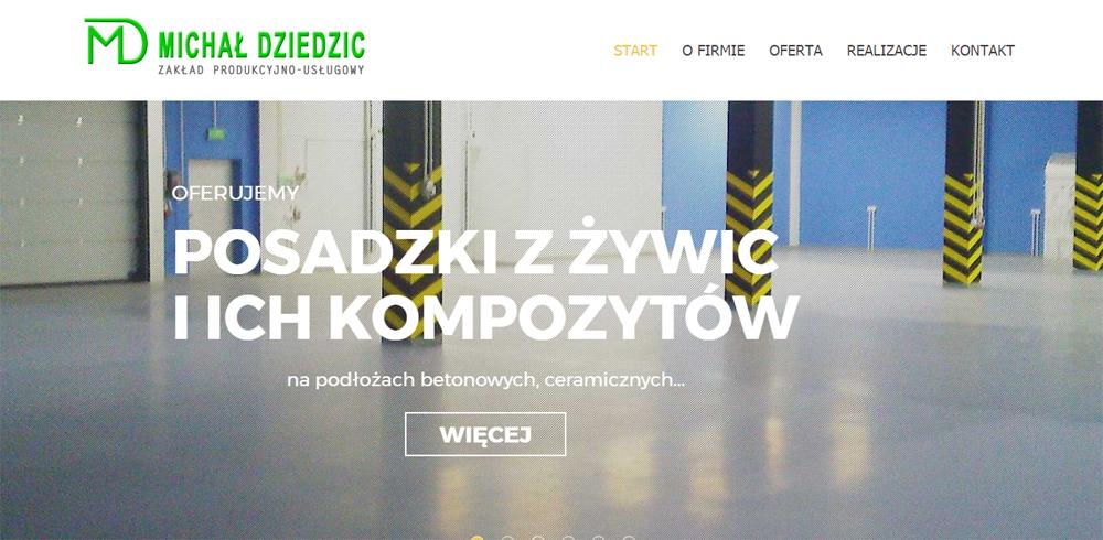 Dziedzic-zpu.pl - posadzki przemysłowe z żywic i ich kompozytów